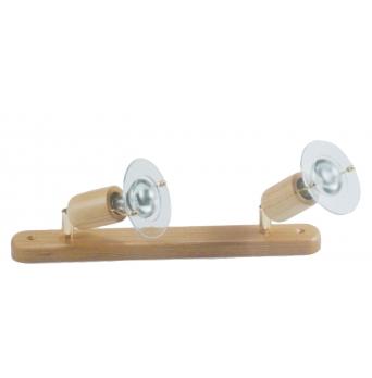 ARGUS 50034/DL  reflektorové svítidlo dřevěné - dvojlišta